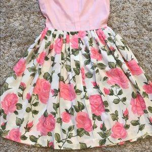 Dresses & Skirts - 50's 60's era Pink Rose Print Dress